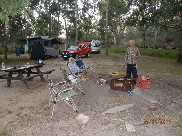 One worker; one supervisor! Campsite BBQ at Robinson Gorge