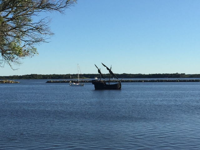 The replica caravel, Notorious at Iluka