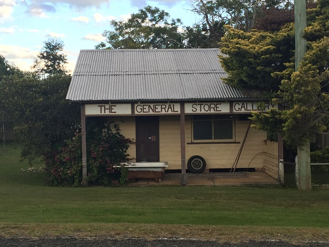 The old General Store at Cowper. If you look carefully you'll see a Bankcard logo on the door.