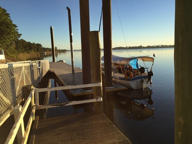 The pontoon at Ulmarra.