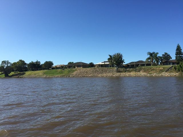 The number of lovely riverside homes increases the closer you get to Grafton.