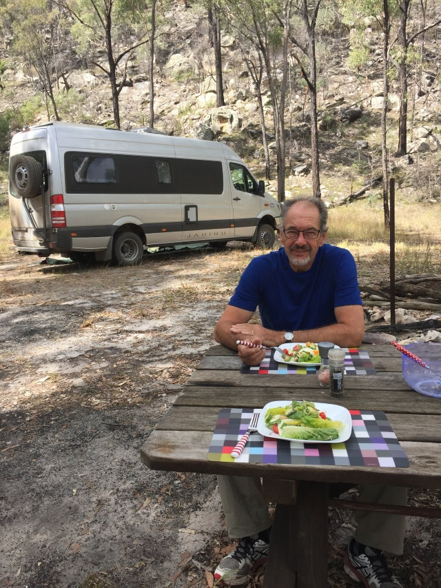 Eating lunch at the KaKaMundi campsite.