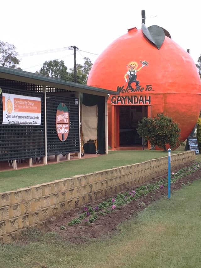 Gladstone, centre of our citrus industry and, of course, the Big Orange.