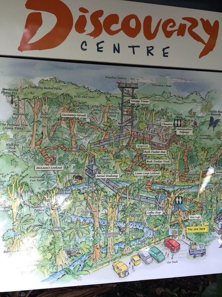 Map of the Daintree Discovery Centre