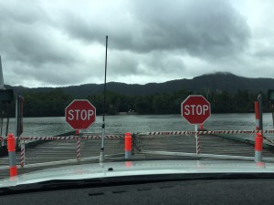 Crossing the Daintree on the car ferry.