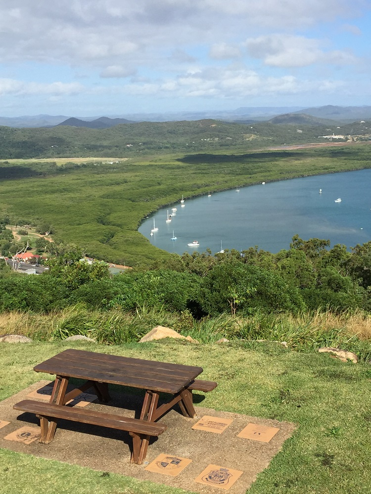 Cooktown and the Endeavour River from Cooks Lookout on Grassy Knoll.
