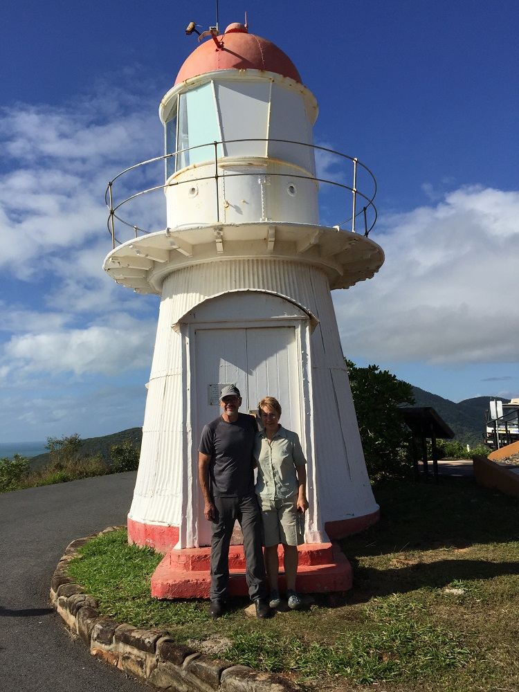 The lighthouse at Cooktown. On the top of Grassy Knoll.
