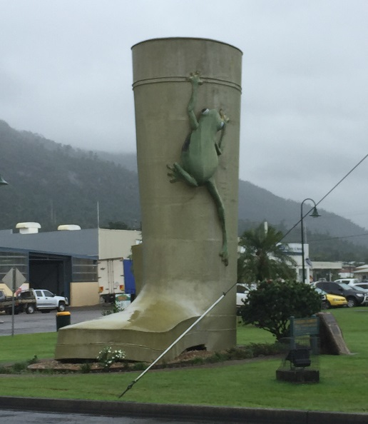 The Big Gumboot at Tully. And yes, it was raining!