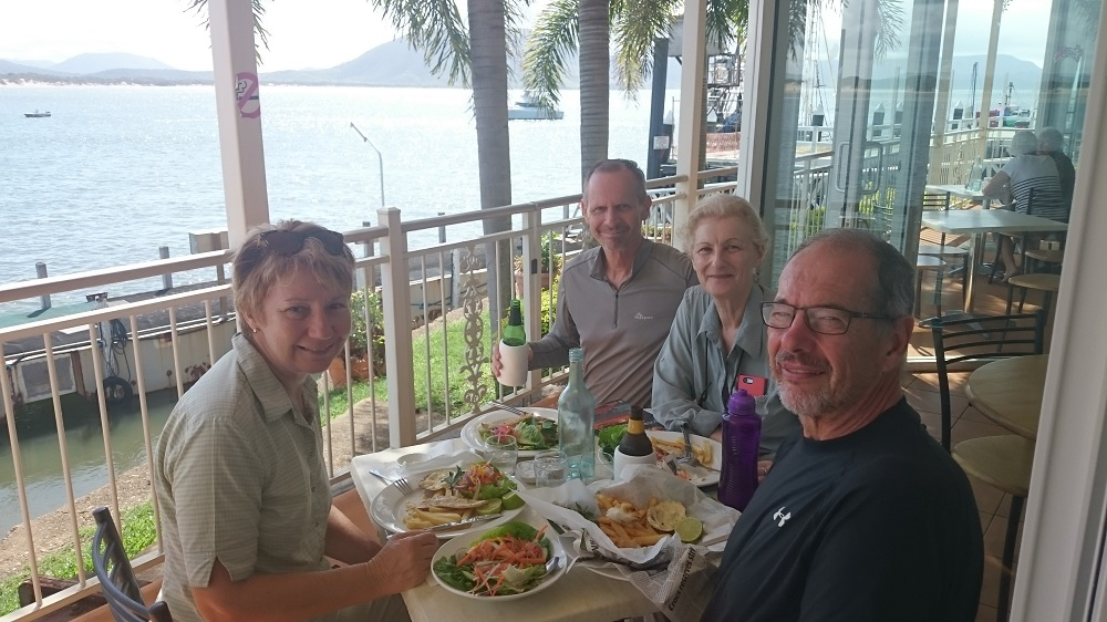 Delicious lunch. Good friends. Top location.