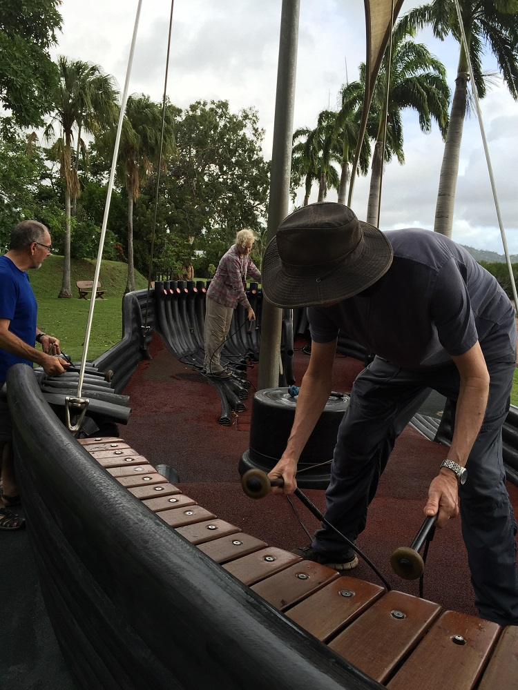 Musical boat - being played by obviously talented musicians.