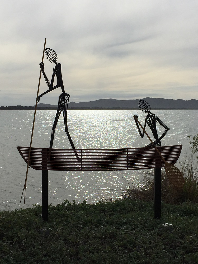 Interesting sculptures along the coastal walk in Townsville.