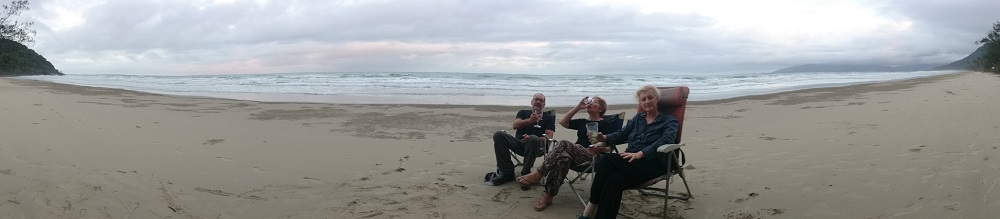 Wine o'clock on Noahs Beach.