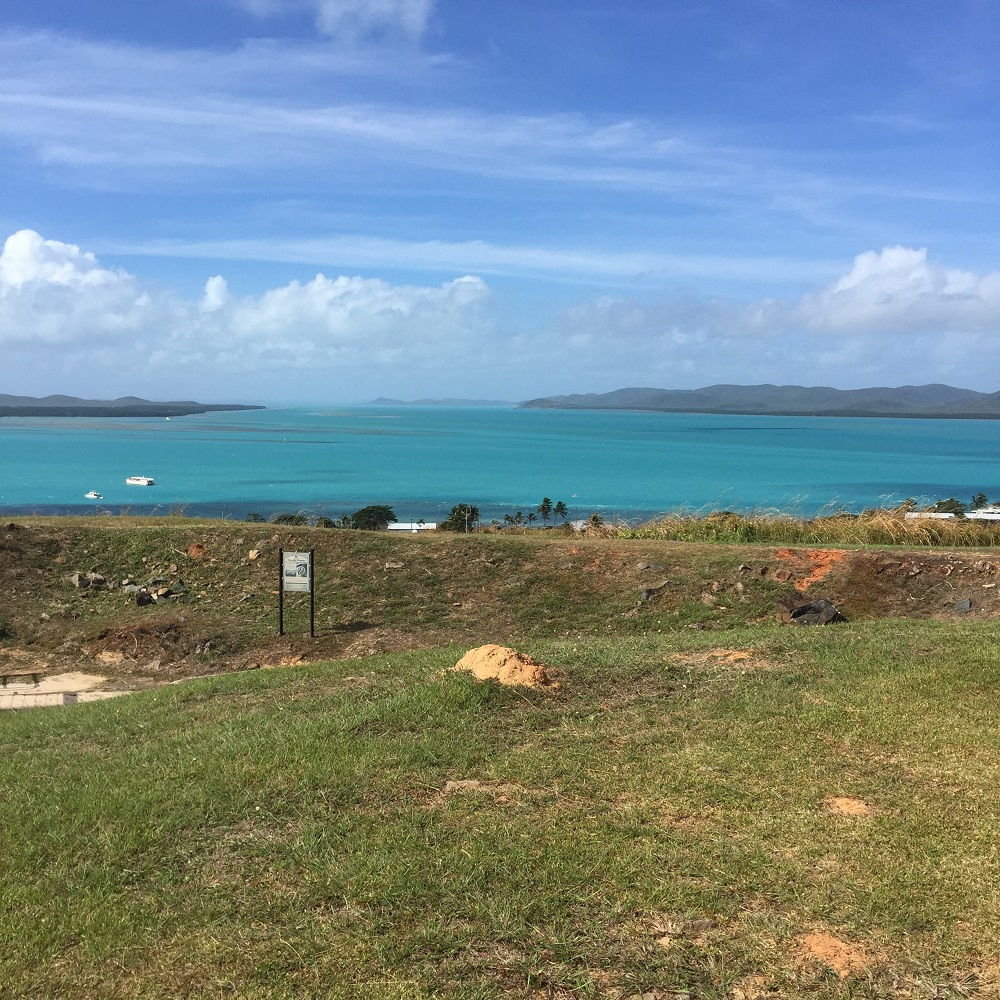 Torres Strait from Green Hill Knob on TI.