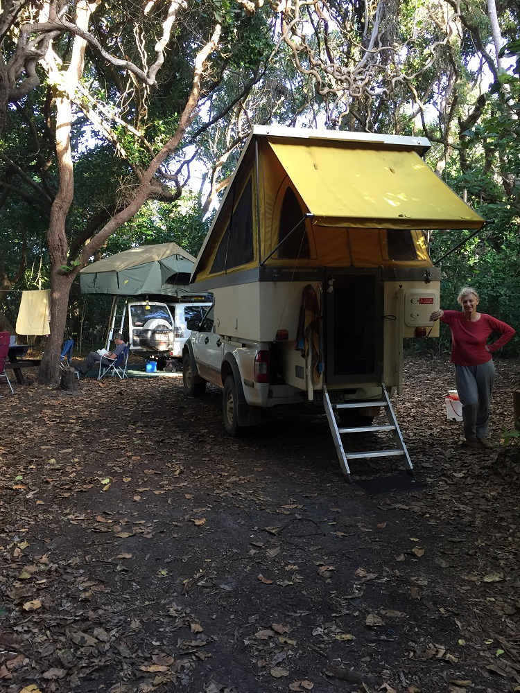 All set up at Chilli Beach. Another excellent National Parks campsite.