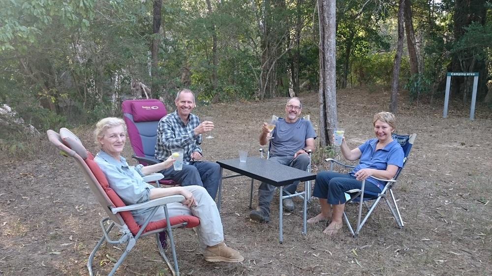 Life is good! Coen 2 campsite, Oyala NP