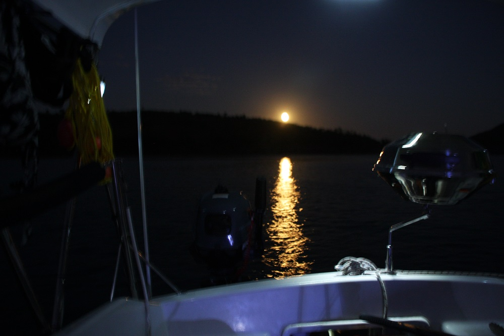 Full moon over Lindeman Island.