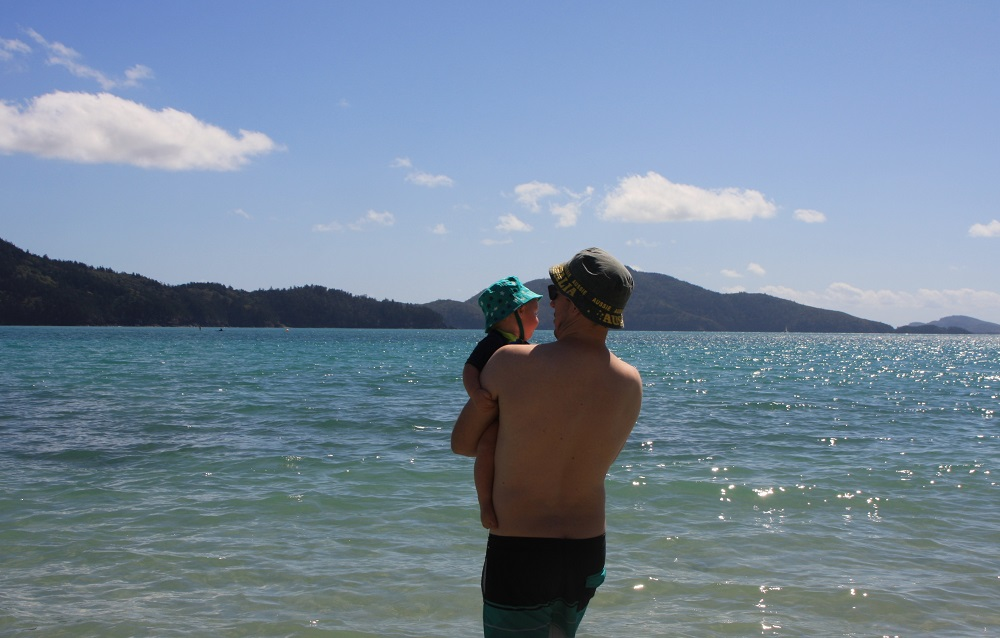 John, this is the Whitsundays, and that's the Pacific Ocean.