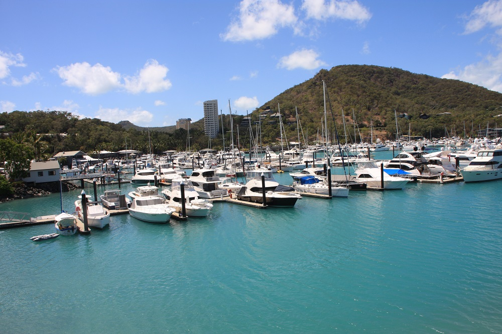 Hamilton Island marina. Top Shelf is there. Can you see her?
