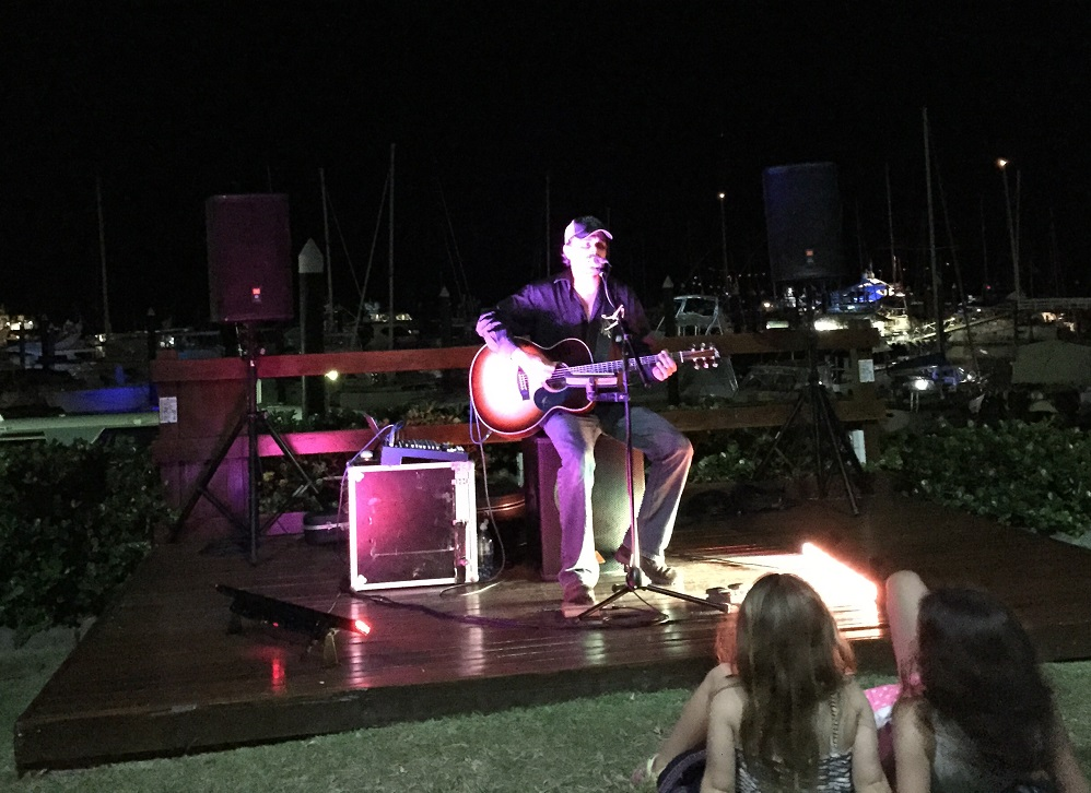 Sitting on the grass at the marina listening to good live music - fantastic!
