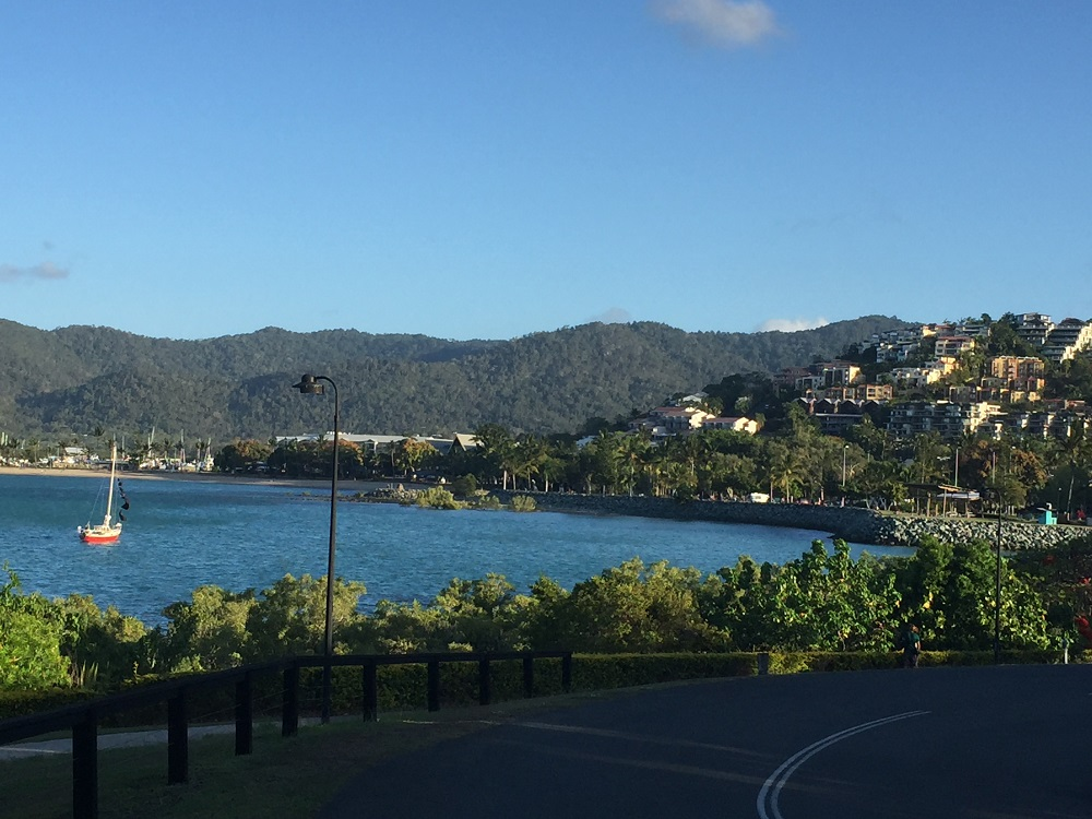 Airlie Beach from the walkway at Abell Point.