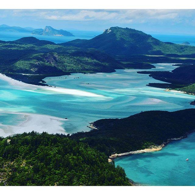 This is Hill Inlet. Not my photo - taken from a greater height than I could manage. Here you can see the size of the Inlet and the shifting sands we had to negotiate. Not complaining - top anchorage.