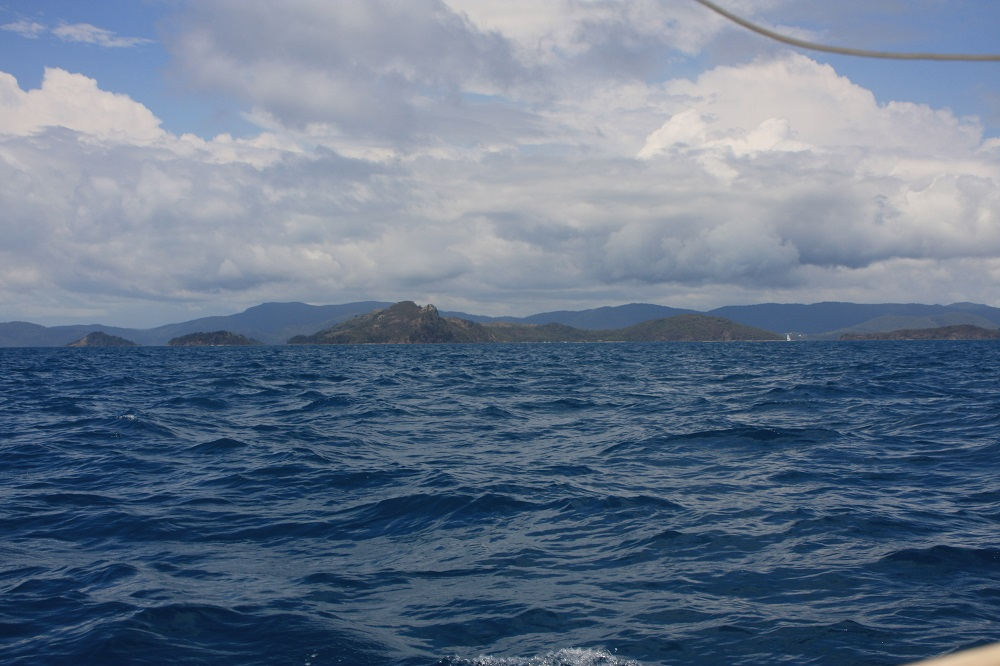 South Molle Island - our destination. Look at those choppy seas!