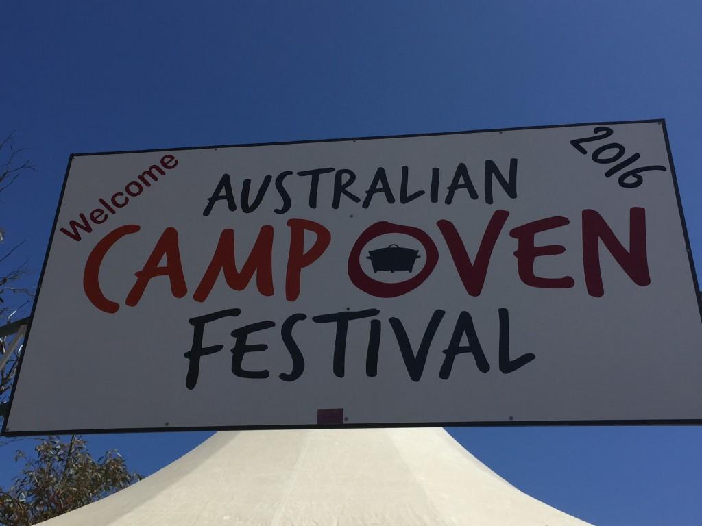 Camp Oven Festival sign