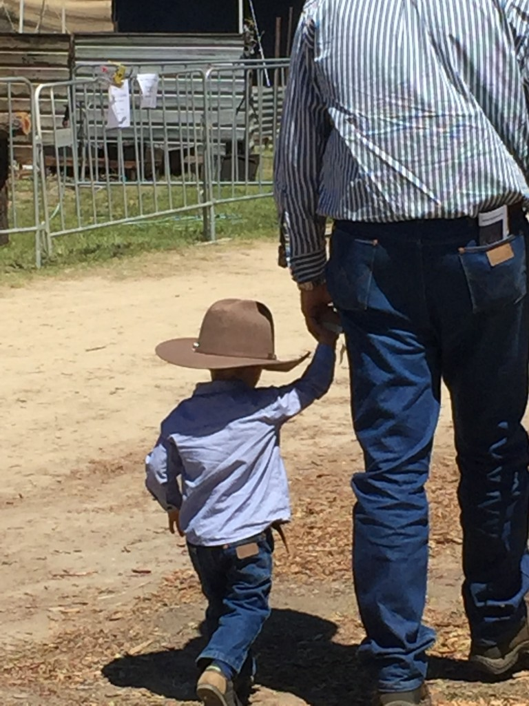 A jackaroo in the making.