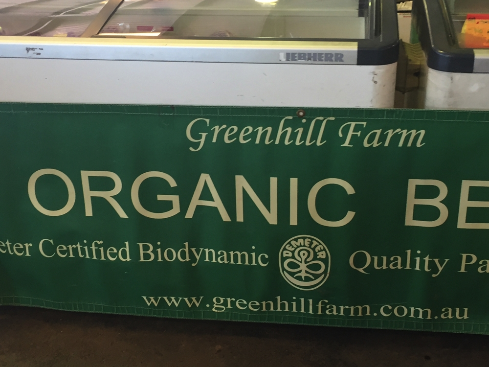 Wonderful organic or free-range produce available every Saturday at the Farmer's Market at EPIC.