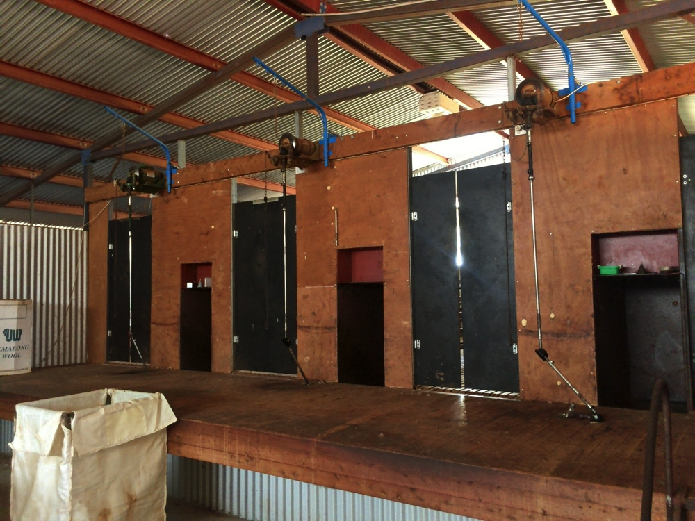 The shearing shed at Yallan Park Farm. We camped beside it.
