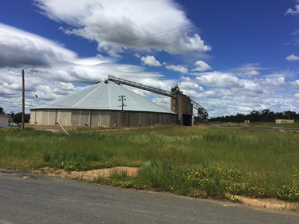I 'think' this is a grain storage building. Just outside West Wyalong.