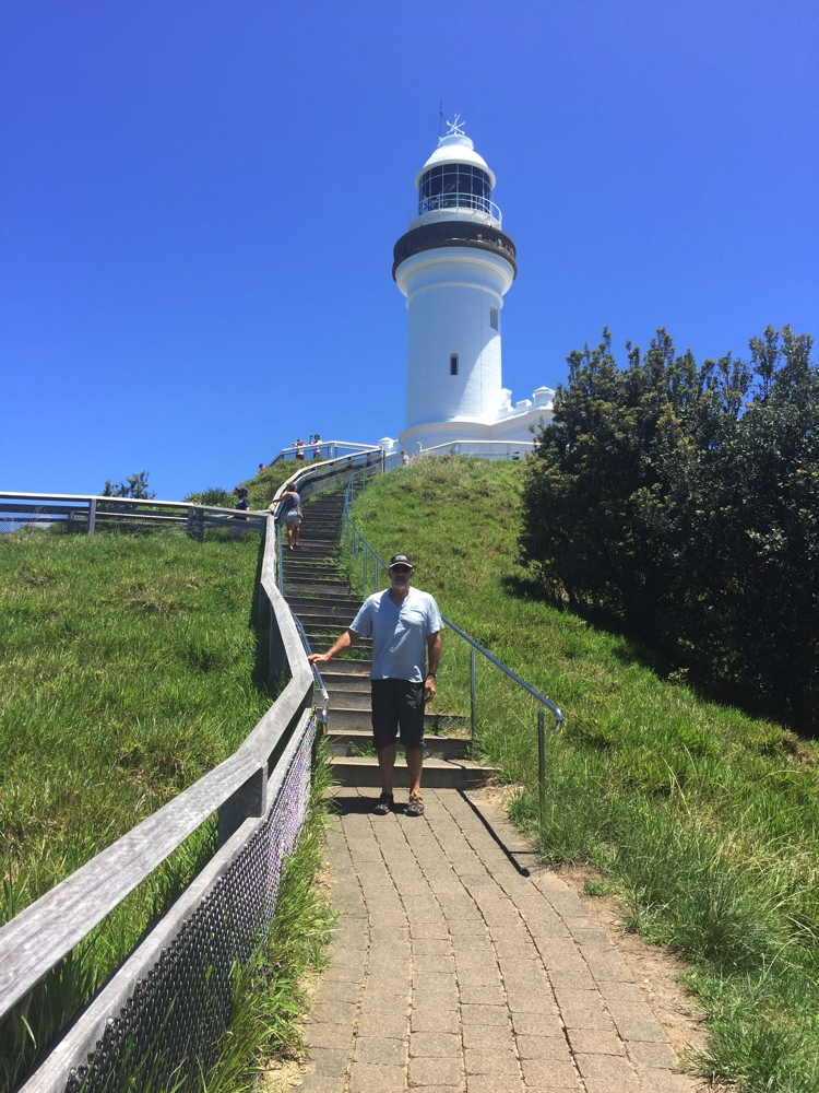 Nearly at the Byron Bay Lighthouse.