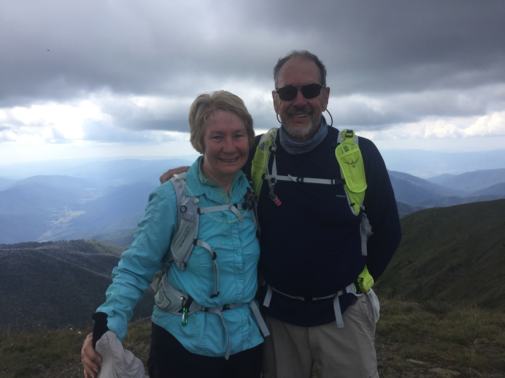 Steve and I at the top of Mt Feathertop.