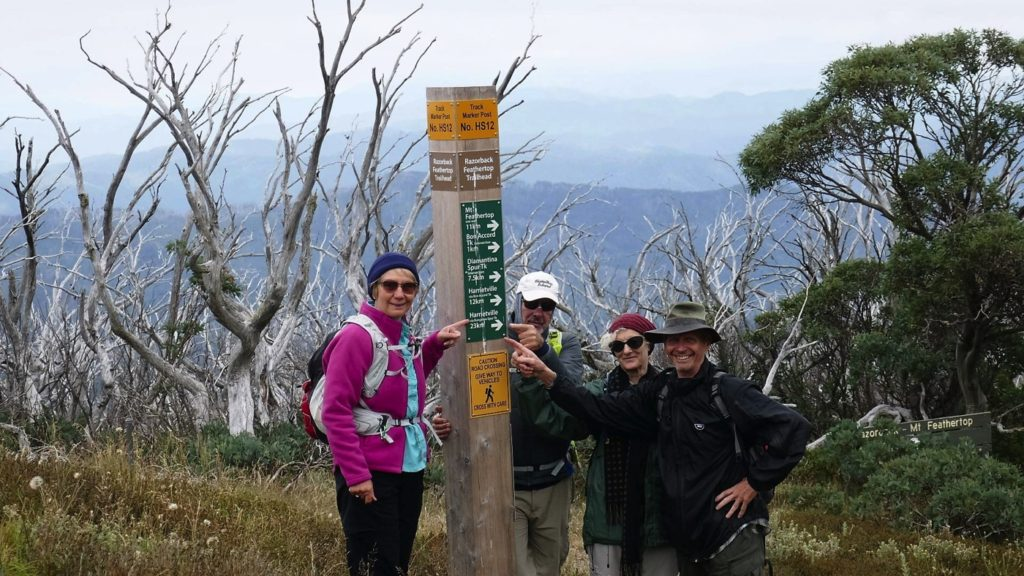 THAT'S where we're going - plus another 3km to the top of Feathertop and back down again.