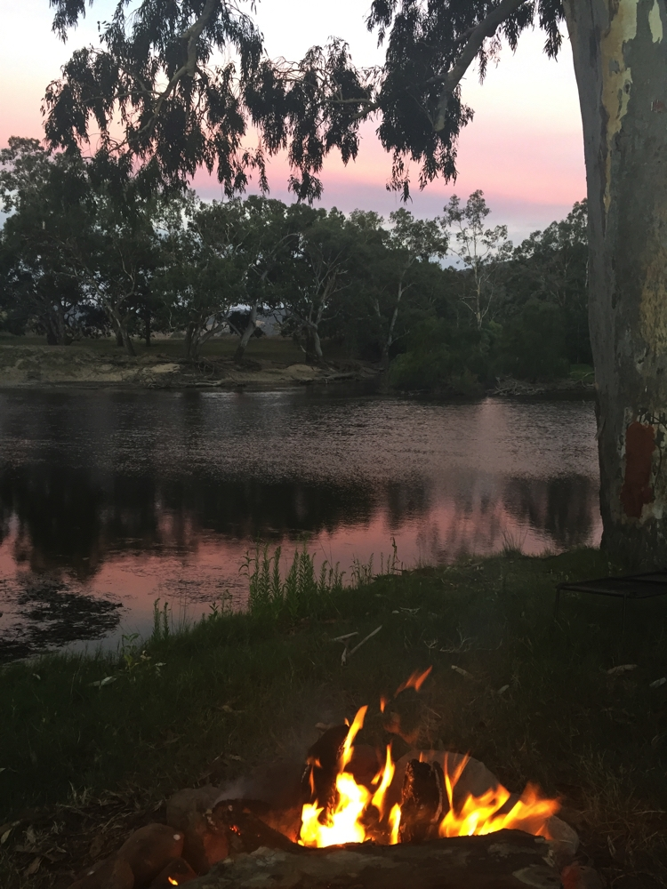 Sunset at Gadds Bend on the Murray River.