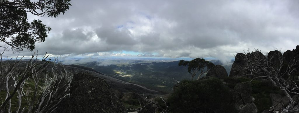 Perisher Valley from Porcupine Rocks.