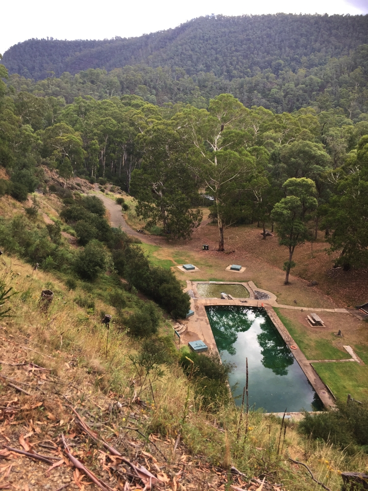 Yarrangobilly thermal pool. A delightful setting for a swim and a picnic.