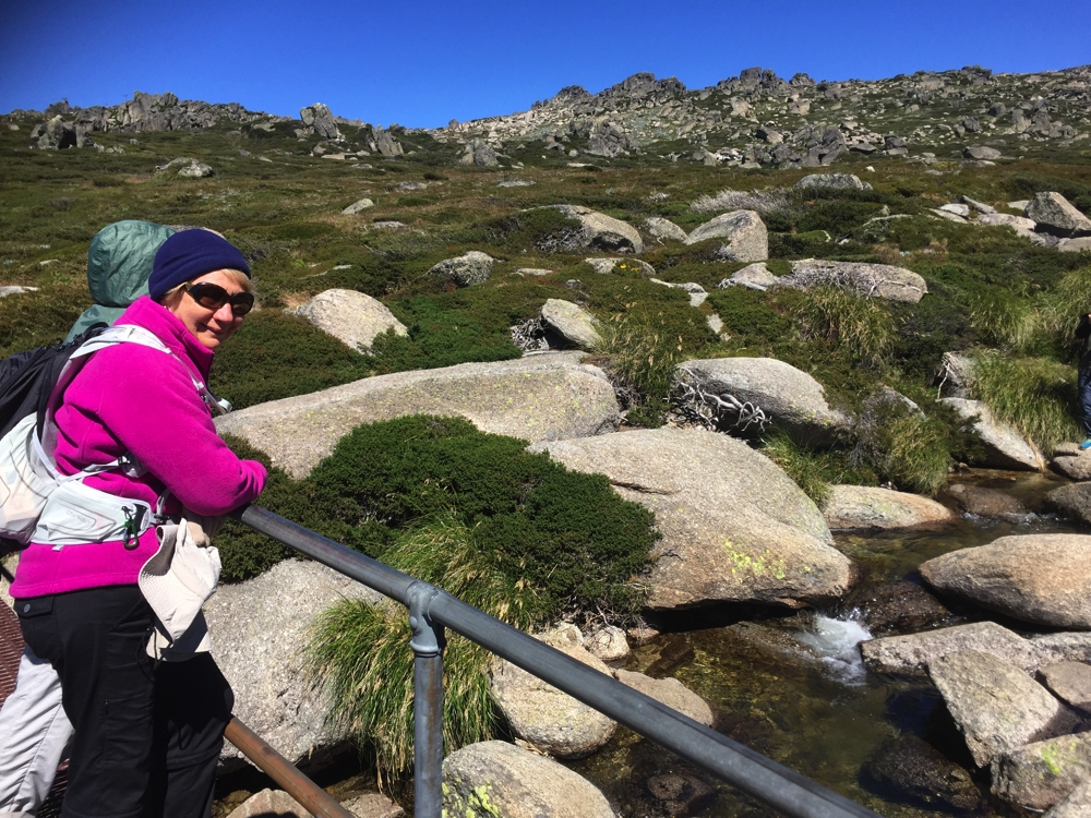 One of the many little brooks to be crossed between Thredbo and the 'Top'.