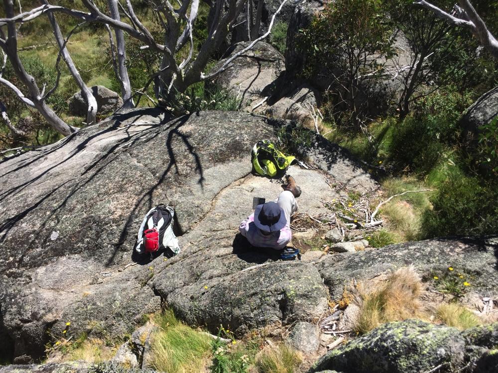 Gill resting on Bob's Ridge.