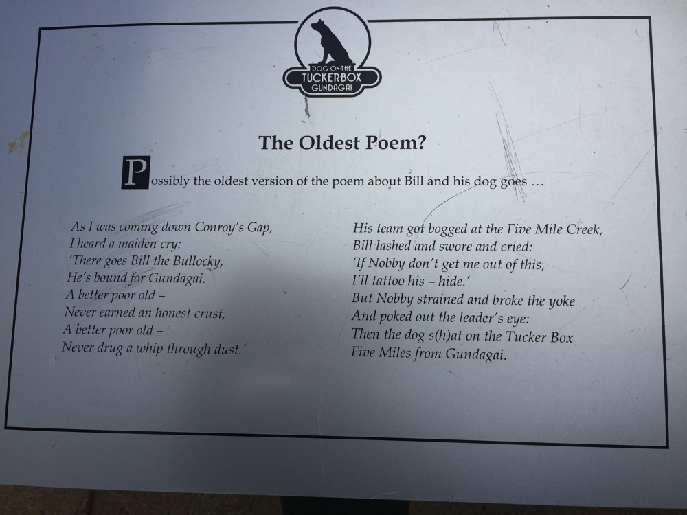 This is the poem that brought fame to the town of Gundagai.