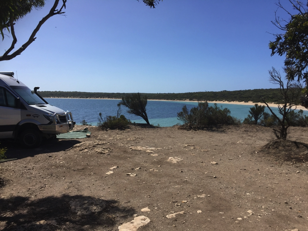 Another view of our great campsite at Fisherman Point, Lincoln National Park.