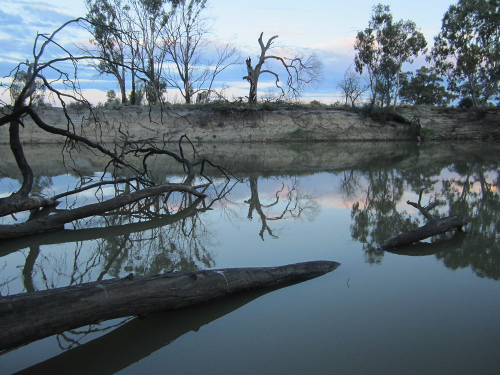 Sunset on Katarapko Creek, Murray River NP