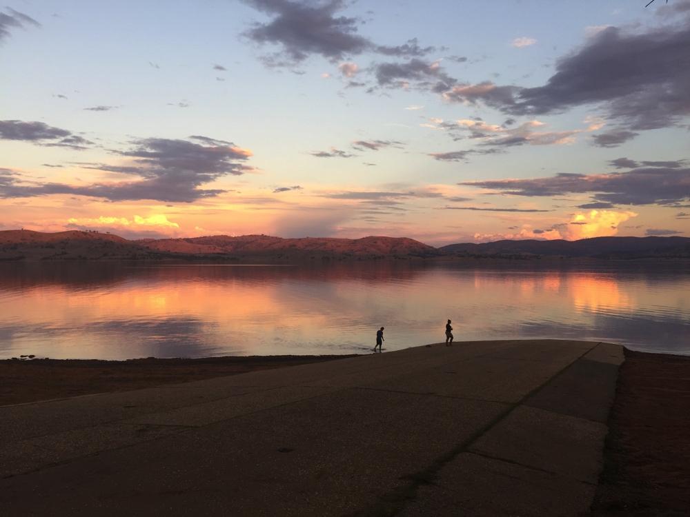 Sunset, Lake Hume.