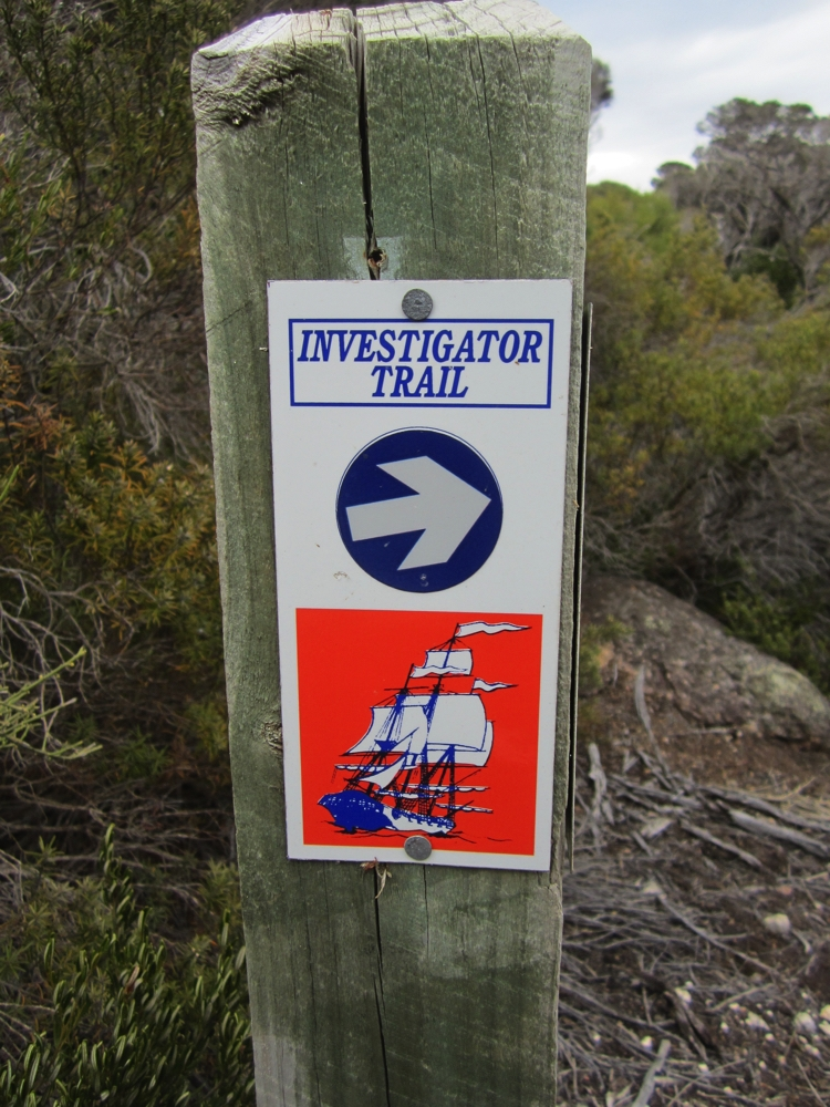 We walked sections of the 36km Investigator Trail which goes around the northern peninsula of Lincoln NP. Flinders boat, the Investigator, stopped here and he sent some sailors in to look for water - unsuccessfully I believe.