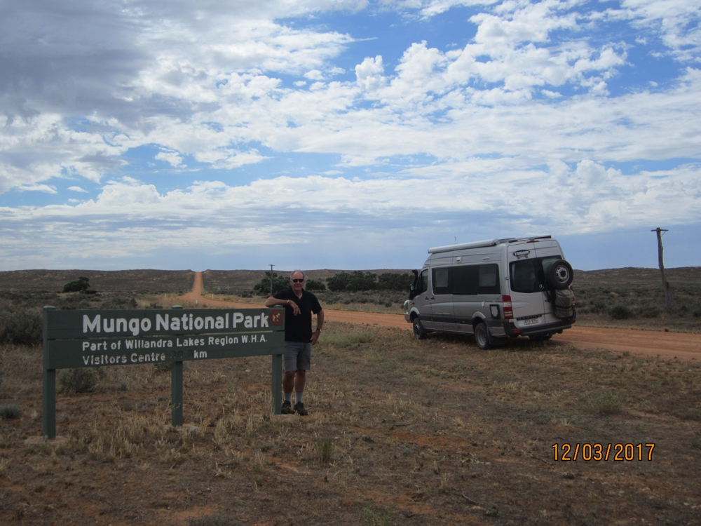 Nearly there. Just up and over those salt bush covered sand dunes.