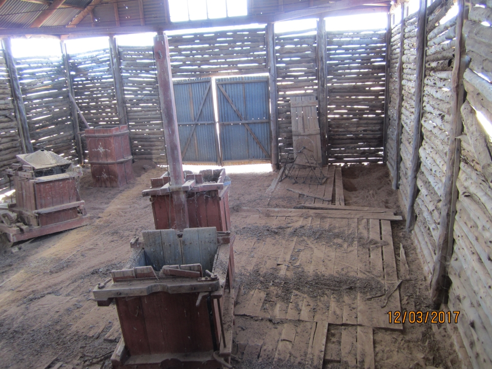 The 'baler' in Mungo Station shearing shed.