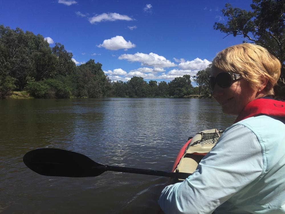Kayaking on the Murray at Albury Wodonga