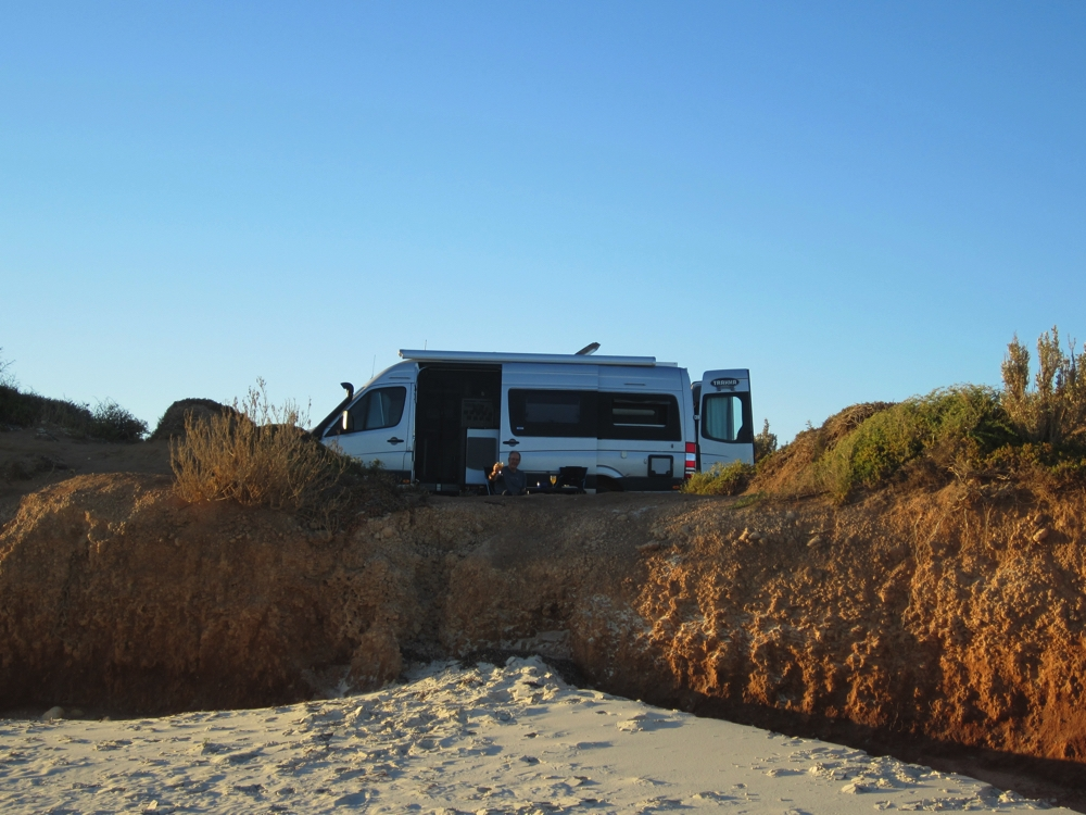 The perfect campsite. Near Port Gibbon