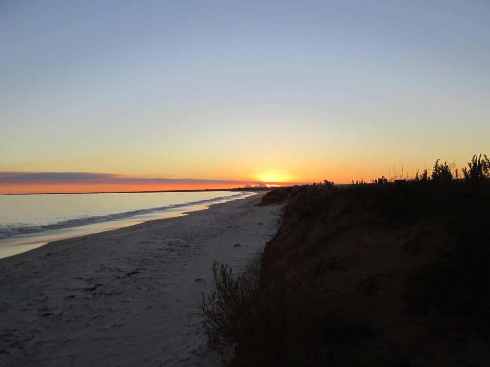Sunset from our campsite near Port Gibbon.