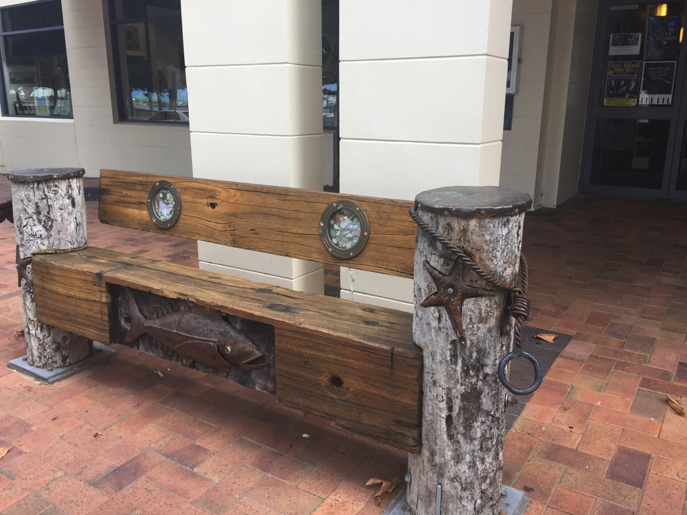 The unique public seating throughout Port Lincoln took my fancy.